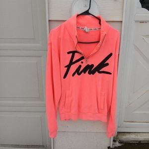 VS PINK half zip sweatshirt! Cute!